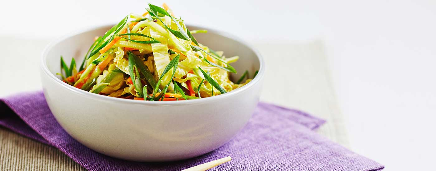 Asian Vegetable Salad with Girard's Carrot Miso Ginger Vinaigrette