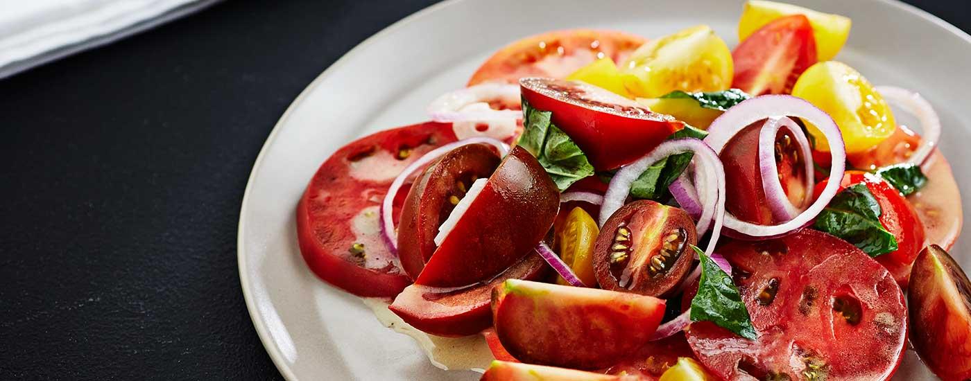 Summer Tomato Basil Salad with Girard's Champagne Vinaigrette