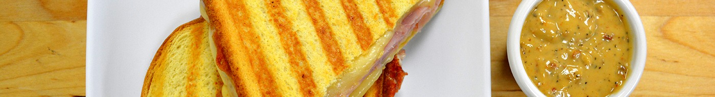 Grilled Smoked Ham and Marchego Cheese