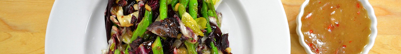 Wilted Greens & Asparagus Salad