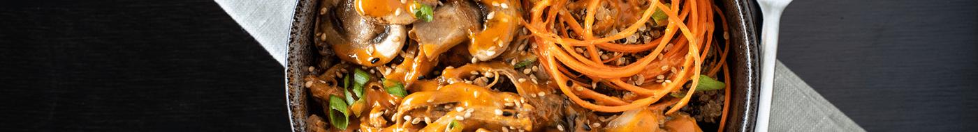 Gochujang grain bowl with Girard's mango gochujang sauce