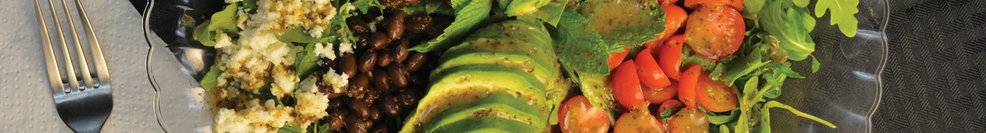 Baja salad with Girard's mint lime tequila dressing